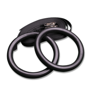 Body-Solid Exercise Rings, pair with straps