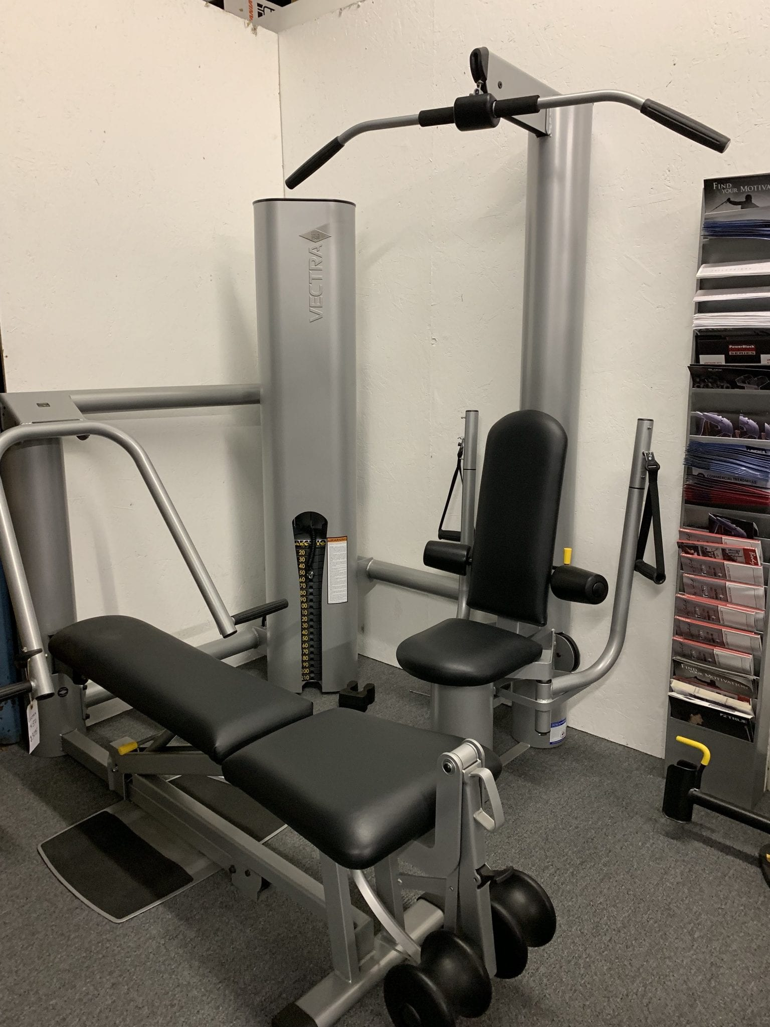 Vectra fitness on line 1450 home gym floor model fitness